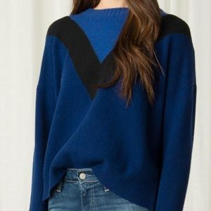 NWT MARGARET OLEARY COLLEEN COLOR-BLOCK SWEATER